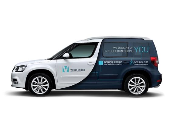VISUAL IMAGE Studio projektowania graficznego 3D 2D - wizualizacje 3D - modelowanie 3D - responsywne strony internetowe / Samochód firmowy / Projekty oklejania aut