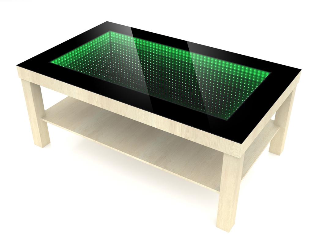 Grafika 3D | Animacje 3D | Projektowanie graficzne | Stolik z tunelem 3D LED | Modele 3D wizualizacje