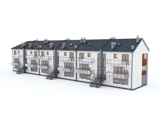 Grafika 3D | Animacje 3D | Projektowanie graficzne / Budynek mieszkalny / Animacje i symulacje