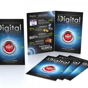 Grafika 3D | Animacje 3D | Projektowanie graficzne | Ulotka formatu A5 | Identyfikacja wizualna