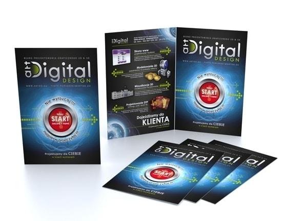 Grafika 3D | Animacje 3D | Projektowanie graficzne | Ulotka formatu DL | Identyfikacja wizualna