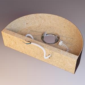 Grafika 3D | Animacje 3D | Projektowanie graficzne | Kinkiet drewniany 3D | Modele 3D wizualizacje