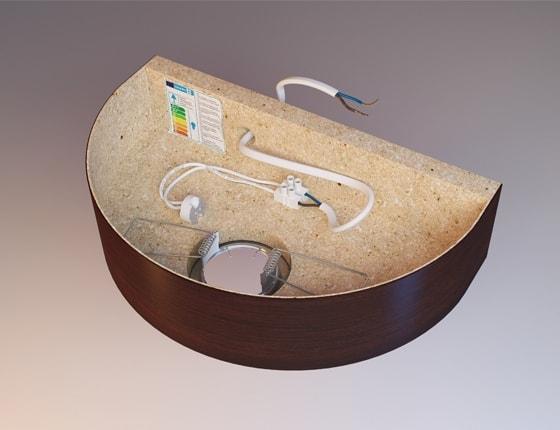 VISUAL IMAGE Studio / Kinkiet drewniany 3D / Modele 3D wizualizacje