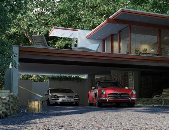 Grafika 3D | Animacje 3D | Projektowanie graficzne | Budynek mieszkalny w Plocku | Wizualizacje 3D