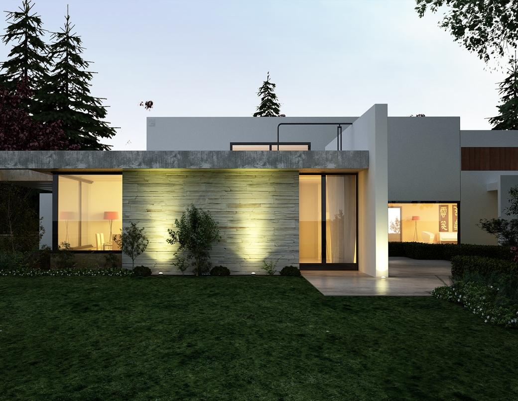Grafika 3D | Animacje 3D | Projektowanie graficzne | Budynek mieszkalny w lesie | Wizualizacje 3D