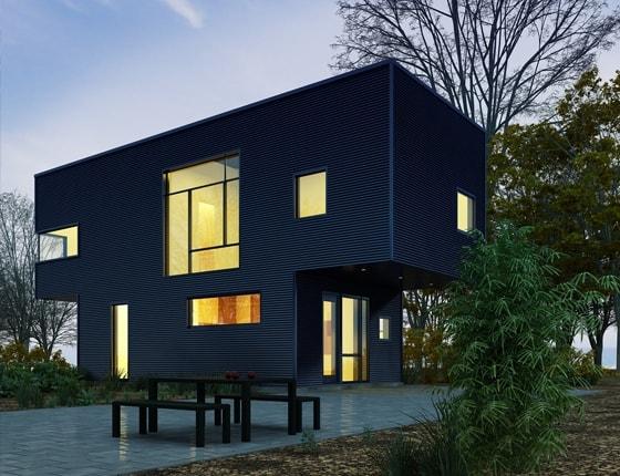 Grafika 3D | Animacje 3D | Projektowanie graficzne | Visual Image / Nowoczesny budynek - dom / Wizualizacje 3D