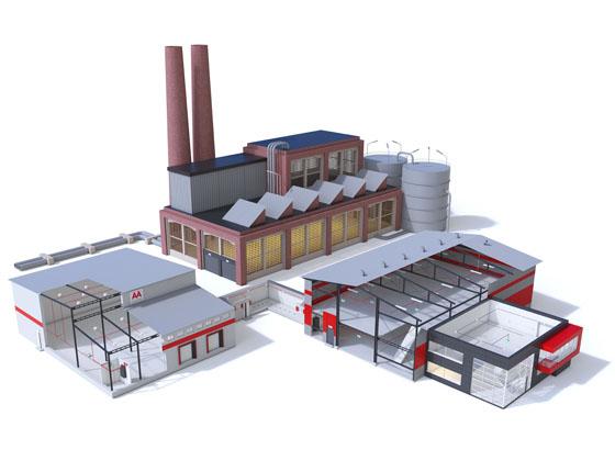 Grafika 3D | Animacje 3D | Projektowanie graficzne | BUDMAT ROCK S | Modele 3D wizualizacje