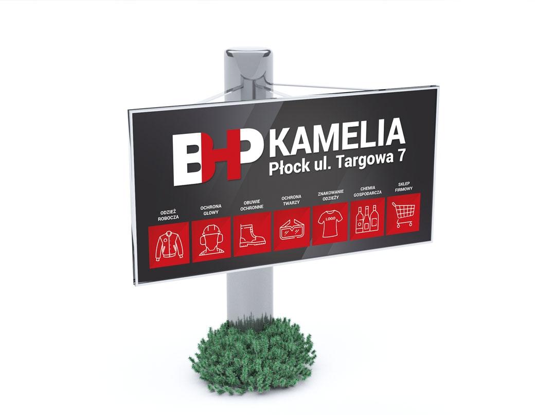 Grafika 3D | Animacje 3D | Projektowanie graficzne | Identyfikacja wizualna firmy BHP Kamelia | Identyfikacja wizualna