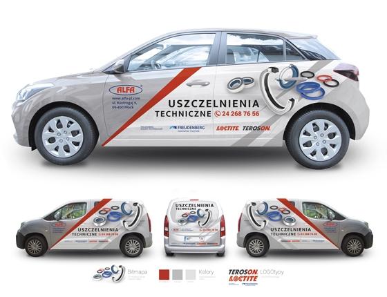 Grafika 3D | Animacje 3D | Projektowanie graficzne / Samochód firmowy ALFA / Identyfikacja wizualna