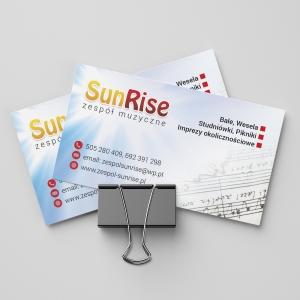 Grafika 3D | Animacje 3D | Projektowanie graficzne | Wizytówka firmowa Sun Rise | Identyfikacja wizualna