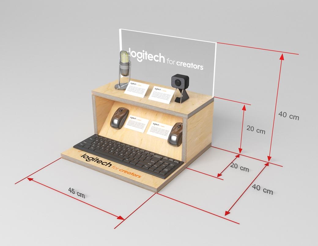 Grafika 3D | Animacje 3D | Projektowanie graficzne | Schodowy display | Modele 3D wizualizacje